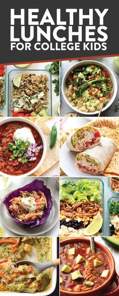 Are you a college kid looking to eat healthy and on a budget? In this post you'll find all of Fit Foodie Finds' best recipes (breakfast, lunch, dinner, snacks, and dessert!) for kids in university!