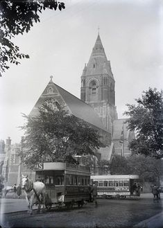 St Andrew's Church at the junction of Forest Road and Mansfield Road, Nottingham, Nottingham City, Forest Road, Derbyshire, Family History, Old Photos, Places To See, Past, Transportation, Travel