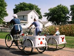 In the Arthur Amish community in Illinois the Amish often ride bicycles.