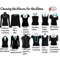 Great chart to know which necklace to wear with an outfit