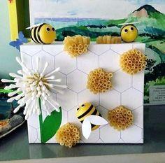 Bee Crafts For Kids, Preschool Crafts, Easter Crafts, Projects For Kids, Diy For Kids, Arts And Crafts, Bee Activities, Montessori Activities, Toddler Activities