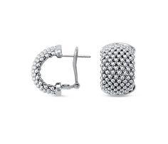 Mesh Hoop Earrings in Sterling Silver - jewelry