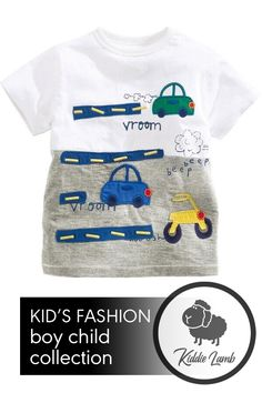 Department Name: Children Item Type: Tops Tops Type: Tees Collar: O-Neck Gender: Boys Material: Cotton Sleeve Length(cm): Short Model Number: Boys T-shirt Clothing Length: Regular Fit: Fits smaller than usual. Cute Tshirts, Boys T Shirts, Short Models, Kids Fashion Boy, Trendy Kids, Vroom Vroom, Shirt Outfit, Best Sellers, Lamb