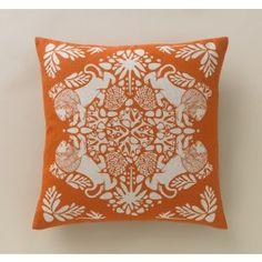 Lion Tangerine Pillow,$90.00