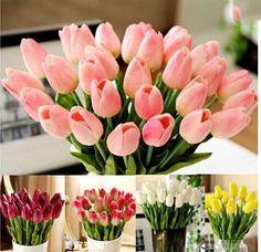 tulip Home Decorate Flower PU Wedding Decorative Artificial Flowers