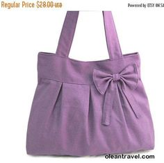 Halloween Sale 10% off purple travel bag / tote bag / shoulder bag /diaper bag / bow canvas purse / zipper closure - http://oleantravel.com/halloween-sale-10-off-purple-travel-bag-tote-bag-shoulder-bag-diaper-bag-bow-canvas-purse-zipper-closure
