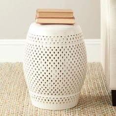 Shop for Safavieh Paradise Courtyard Cream Ceramic Garden Stool. Get free shipping at Overstock.com - Your Online Garden