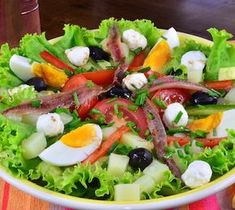 These low-calorie foods are delicious and healthy, making you easy to lose weight - Page 6 of 22 - zzzzllee High Calorie Diet, Low Calorie Recipes, Nicoise Salad, Cobb Salad, Mozzarella, Mediterranean Diet, Couscous, Vinaigrette, Bento