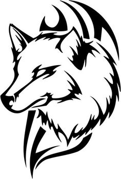 Reusable Mylar Wolf Stencil Airbrush Crafting Wall art Home Decal Wolf Tattoos, Tribal Animal Tattoos, Tribal Drawings, Tribal Wolf Tattoo, Tribal Animals, Tribal Art, Wolf Drawings, Wolf Stencil, Animal Stencil