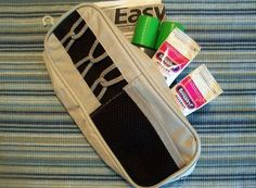 """Travel-Ready Pencil Case : """"I use a pencil case hanging from a key hook by the front door to store my son's EpiPens and other meds. Since they are with our keys, it makes it much less likely that we will leave without them, and we always know where they are when we are at home, in case of emergency."""" —Libby of The Allergic Kid    Source: The Allergic Kid"""