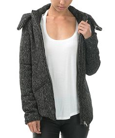 Look at this #zulilyfind! CQbyCQ Charcoal Marled Wool-Blend Hooded Jacket - Women by CQbyCQ #zulilyfinds
