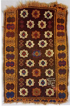 Carpet | The Met Country of Origin Turkey, Central Anatolia Medium:Wool; symmetrically knotted pile Dimensions:L. 35 in. x W. 23 in.