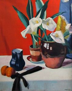 Francis Campbell Boileau Cadell Arum Lilies 1920