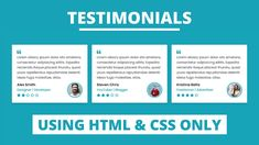 In This Program Responsive Testimonials Section There Are Three Testimonials Box Or Card On The Webpage And Inside Each Testimonials Html Css Website Layout