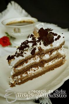 Čokoladna torta Kolaci I Torte, Torte Cake, Croatian Recipes, Pie Dessert, Mini Cakes, Let Them Eat Cake, Cake Cookies, No Bake Cake, Sweet Recipes