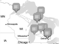 At a recent morning news meeting, we tried to come up with a comprehensive list of all of the Michigan towns and cities where we send reporters to get news Morning News, Interactive Map, Social Media Channels, Minneapolis, Milwaukee, Detroit, Michigan, Chicago, Cover