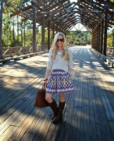 Fash Boulevard: My New Favorite App  Anna is wearing the 'ezra' ikat skirt.
