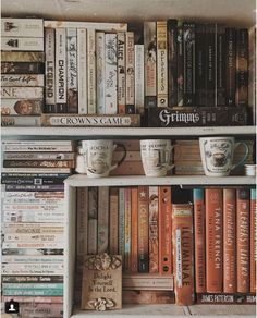 I never thought of using mugs to decorate my bookshelves, but now I kinda want to get some cool ones to add to my shelves. 10 Strangely Satisfying for the Book Lover in All of Us