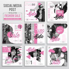 Collection of social media post design template Premium Vector Creative Poster Design, Ads Creative, Post Design, Sports Graphic Design, Banners, Album Cover Design, Instagram Design, Web Inspiration, Social Media Design