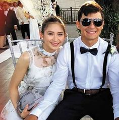 Sarah, Matteo display sweet moments at a wedding Wedding News, Geronimo, Pinoy, Number One, In This Moment, Filipino, Couples, Celebrities, Sweet