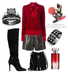 """""""The LookBook by www.lemestyleu.com"""" by lemestyleu on Polyvore featuring Givenchy, P.A.R.O.S.H., GUESS, Vince Camuto, Waterford, Lancôme and Chanel"""