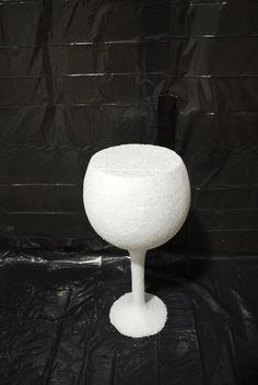 Large Polystyrene shape #visualmerchandise #polystyrene #windowdisplay #winecup