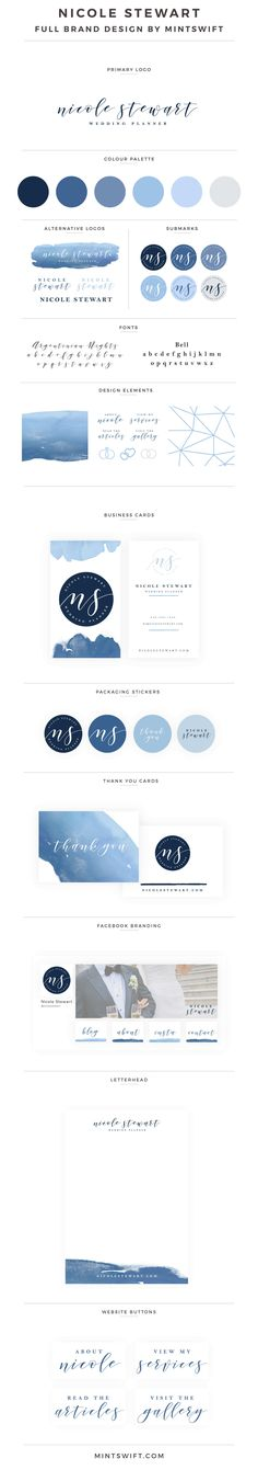 Nicole Stewart full brand design by MintSwift