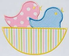 Birds Nest Applique - 3 Sizes! | Spring | Machine Embroidery Designs | SWAKembroidery.com Applique Cafe
