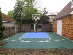Basketball garden on pinterest backyard basketball court for How much to build a half court basketball court