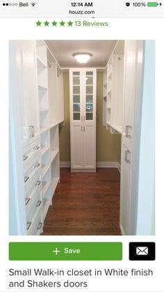 5.5' x 8' walk-in closet