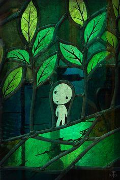 Kodama | Hayao Miyazaki Characters | Princess Mononoke