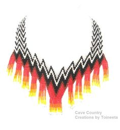 Native American Fire Mother Beaded Necklace