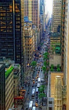 Looking Down Fifth Avenue from window in Manhattan NYC New York City Travel Honeymoon Backpack Backpacking Vacation Places To Travel, Places To See, Places Around The World, Around The Worlds, New York City, A New York Minute, Voyage New York, I Love Nyc, Manhattan New York
