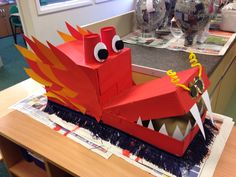 Chinese Dragon head for our dragon dancing at Chinese New Year Chinese Dragon head for our dragon dancing at Chinese New Year Chinese New Year Crafts For Kids, Chinese New Year Dragon, Chinese New Year Decorations, Chinese Crafts, Art For Kids, Dragon Birthday, Dragon Party, Dragon Dance, Dragon Head