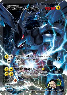 Giovanni's Zekrom (FA) by on DeviantArt Fake Pokemon Cards, Pokemon Cards Legendary, Pokemon Fake, Type Pokemon, Pokemon Dex, Pokemon Umbreon, Cool Pokemon Wallpapers, Cute Pokemon Wallpaper, Pokemon Heart Gold