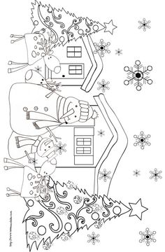 Embroidery patterns christmas snowman 54 ideas for 2019 Christmas Coloring Pages, Coloring Book Pages, Printable Coloring Pages, Christmas Colors, Christmas Snowman, Christmas Crafts, Christmas Tress, Christmas Images, Xmas
