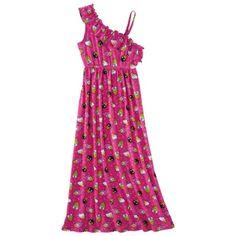 #hellokitty Girls' pink print maxi dress