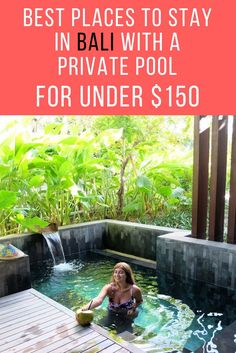 Bali offers so many affordable accommodation choices, that it's hard to figure out the best places to stay. The island itself is huge and has so many beautiful areas, which makes it even harder to choose.  The great news is that you can stay in a luxurious villa with a private pool for less than $150 per night. Tips on where to stay in Bali, best hotels, private pool villa accommodation and affordable luxury hotels in Bali.