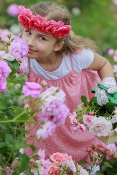 Girl Playing in Rose Garden - Blossom Water