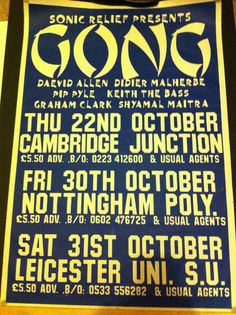 A poster from my youth, c1992. I went to Leicester.