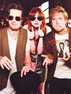 Matt Smith, Karen Gillan, Arthur Darvill. I so wish I was best friends with these three. #doctorwho