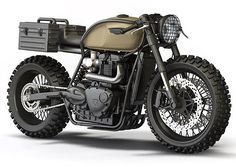 The Bullitt: Triumph desert-sled doomsday concepts by Ziggy Moto