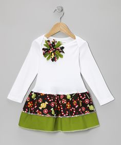 White Christmas Candy Tiered Dress - Infant, Toddler & Girls   Daily deals for moms, babies and kids
