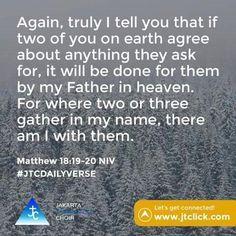 Matthew 18:19-20  #JTCDailyVerse