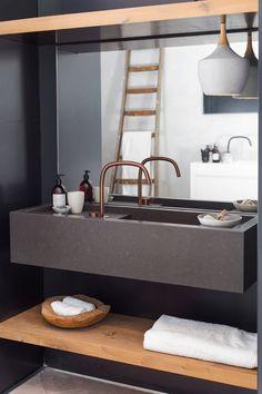 COCOON showroom Amsterdam | Piet Boon collection bycocoon.com | copper design taps | custom made washbasins | modern bathroom design | Dutch Designer Brand COCOON