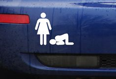Funny decal-Bumper sticker Bow to the female by BerthmarkVinyl