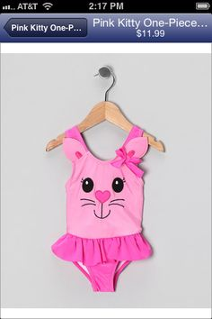 Kitty & bow baby swim suit by candlestick