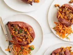 Get Beefy Stuffed Sweet Potato Recipe from Food Network