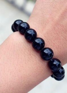 Kup mój przedmiot na #Vinted http://www.vinted.pl/kobiety/bizuteria/9794128-czarna-bransoletka-z-jadeitu