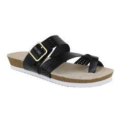 Fahrenheit Women's Betty-06 Mesh Upper Flat Sandals (-5.5)